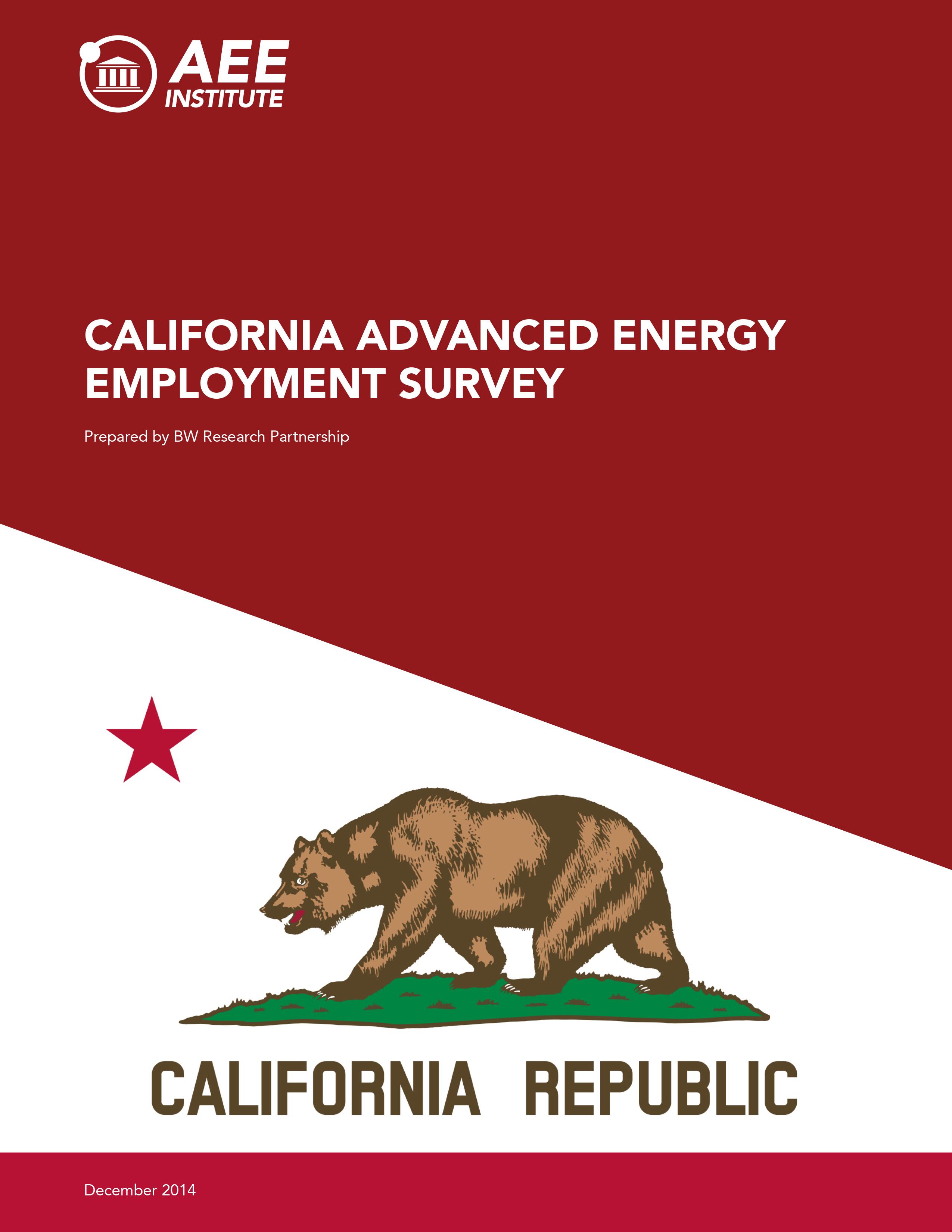 California Advanced Energy Employment Survey