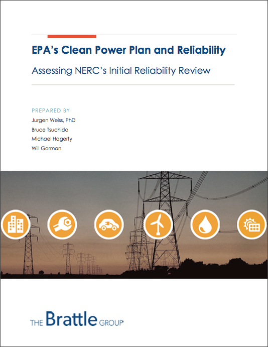 EPA's Clean Power Plan and Reliability report from the Brattle Group
