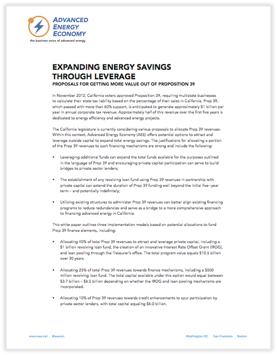 Expanding Energy Savings Through Leverage