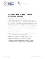 21st Century Electricity System CEO Forum - San Antonio, TX