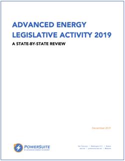 Advanced Energy Legislative Activity 2019 - thumbnail