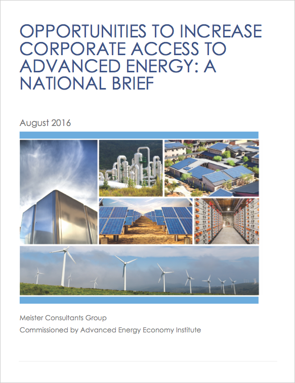 Opportunities to Increase Corporate Access to Advanced Energy