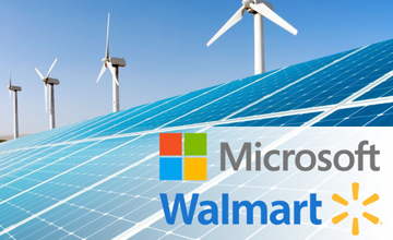 Learn more about Microsoft and Walmart's access to renewable energy efforts