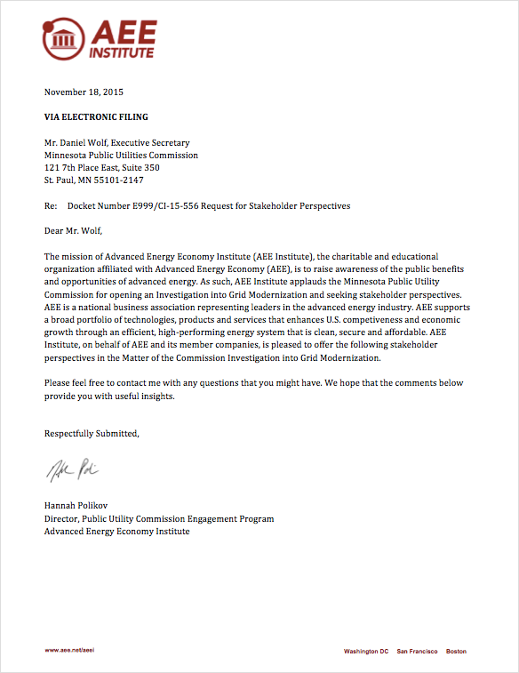 AEEI's Grid Modernization Comments MN