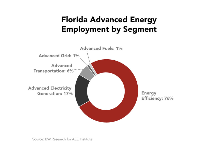 FL Advanced Energy Employment by Segment